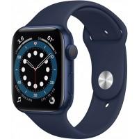 Apple Watch Series 6 GPS, 44mm Blue Aluminium Case with Deep Navy Sport Band - Regular *NEW*