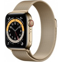 Apple Watch Series 6 GPS + Cellular, 40mm Gold Stainless Steel Case with Gold Milanese Loop *NEW*