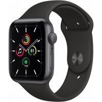 Apple Watch SE GPS, 44mm Space Gray Aluminium Case with Black Sport Band - Regular *NEW*