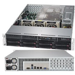 "Barebone Server 2 U Dual 3647; 8 Hot-swap 3.5""; 1000W Redundant Titanium, 6029P-TRT"