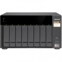 8-Bay QNAP TS-873-8G AMD R series RX-421ND 4-core 2.1 GHz, Turbo Core to 3.4 GHz Single PSU, 250W