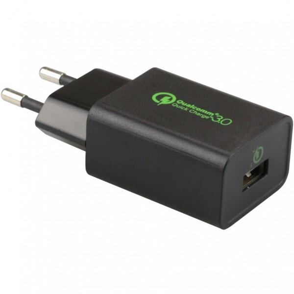 Ladegerät 240V 1xUSB Qualcomm Quick Charge 3.0 + USB-C Kabel | Innovation IT