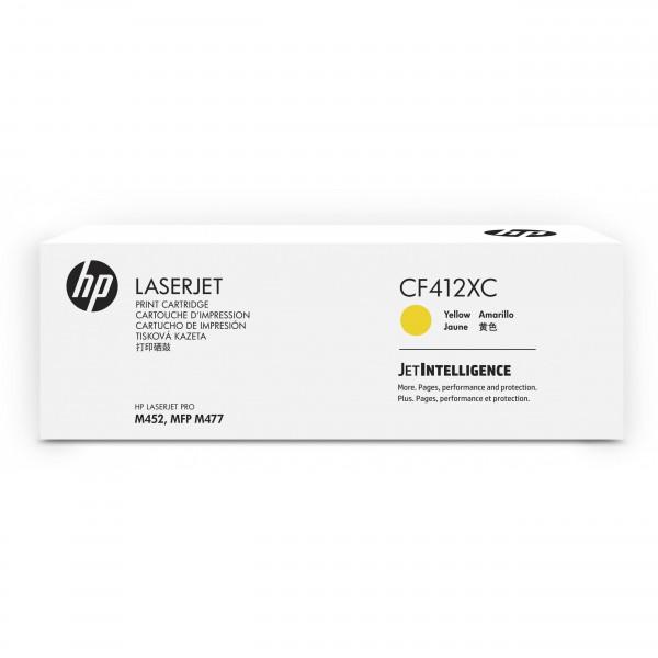 HP # 412X CF412XC yellow Contract-Toner - Hohe Kapazität