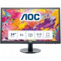 "61cm/24"" (1920x1080) AOC E2460SH HDMI VGA DVI LS 1ms black"
