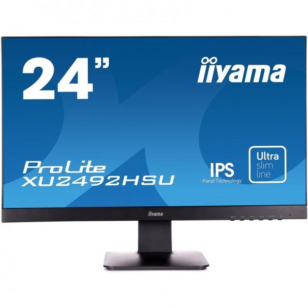 """60,5cm/ 23,8"""" (1920x1080) Iiyama ProLite XU2492HSU-B1 Full HD IPS 5ms HDMI DP LS black"""