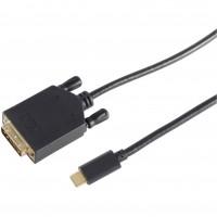USB C > DVI 24+1 Stecker (4K 30Hz) 1,8 m schwarz