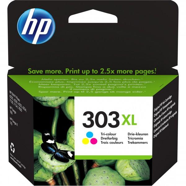 HP 303XL dreifarbig cyan/magenta/yellow mit hoher Reichweite T6N03AE#UUS