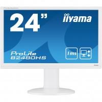 "60cm/24"" (1920x1080) Iiyama B2480HS-W2 white HDMI DVI VGA Pivot Lift"