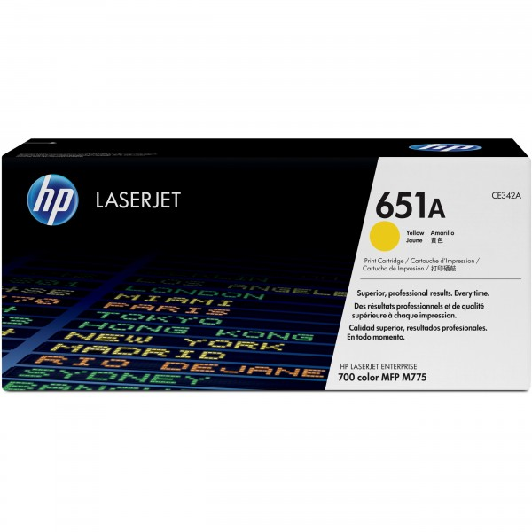 HP 651A CE342AC Yellow Contract
