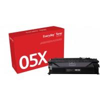TON Xerox High Yield Black Toner Cartridge equivalent to HP 05X for use in LaserJet P2035, P2055; Canon imageCLASS LBP251, LBP253, LBP6300 (CE505X)