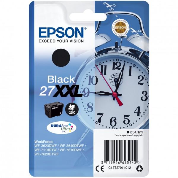 Epson DURABrite Ultra Ink 27 XXL Black NEUE VERPACKUNG