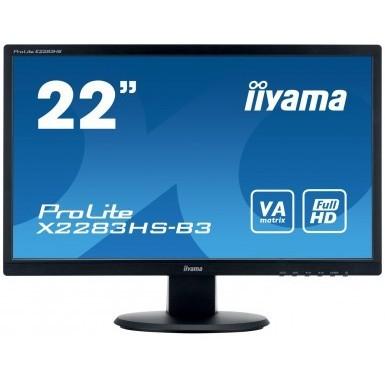 "54,6cm/21,5"" (1920x1080) Iiyama ProLite X2283HS-B3 Full HD 4ms VGA HDMI DP LS Matt black"