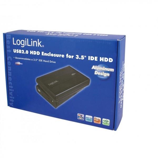 8cm IDE USB2 LogiLink Basic Alu