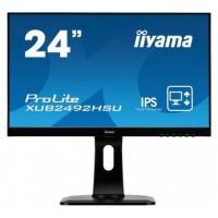 """61cm/23,8"""" (1920x1080) Iiyama ProLite XUB2492HSU-B1IPS 5ms VGA HDMI DP USB Pivot black"""
