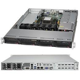 "Barebone Server 1 U Single 3647; 4 Hot-swap 3.5""; 500W Redundant Platinum; SuperServer 5019P-WTR"