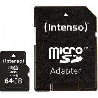 MicroSDXC 64GB Intenso C10 40MB/s inkl.SD Adapter
