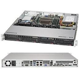 """Barebone Server 1U Single 1151; 4 Hot-swap 3.5""""; 350W Platinum; SuperServer 5019S-MN4"""