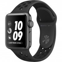 AppleWatch Nike Series 3 GPS, 38mm Space Grey Aluminium Case with Anthracite/Black Nike Sport Band