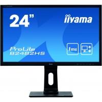 61cm/24'' (1920x1080) Iiyama ProLite B2482HS-B5 16:9 1ms VGA HDMI DVI VESA Pivot Speaker Full HD BLa