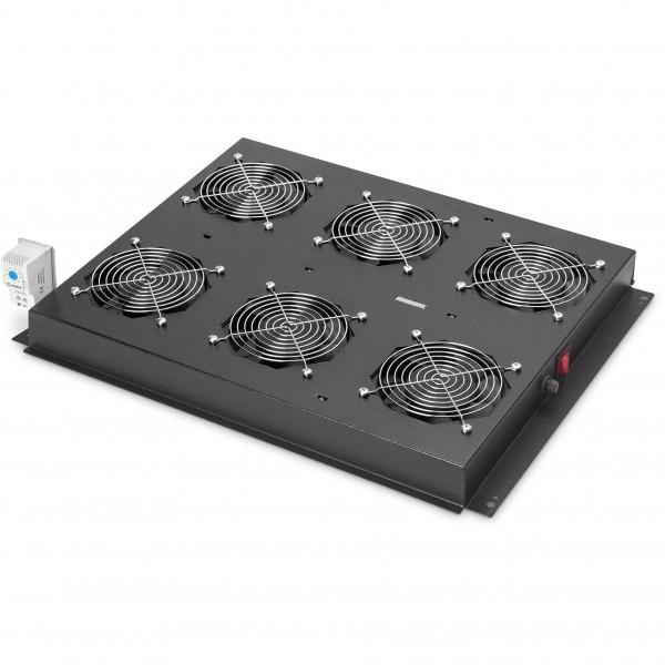 Dachlüftereinheit Digitus für Unique Serverschränke 6 Lüfter, Schalter, Thermostat, 828 m³ zirk./h,