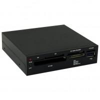 "CardReader 8cm (3,5"") LC-Power black USB3 retail"