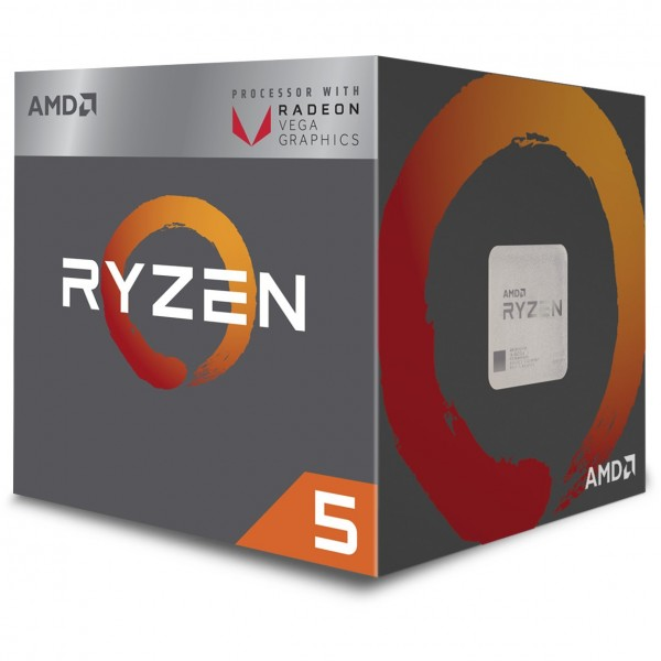AMD AM4 Ryzen 5 4 Core Box 3400G 3,7 GHz MAX Boost 4,2GHz 4MB 65W Radeon RX Vega 11 with Wraith Spire Cooler 12nm