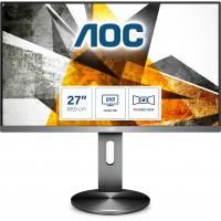 "68,6cm/27"" (2560x1440) AOC Q2790PQE Quad HD IPS DP 2x HDMI 2x USB 3.0 5 ms Grey"