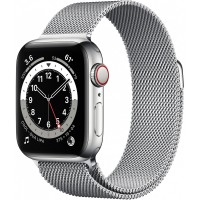 Apple Watch Series 6 GPS + Cellular, 40mm Silver Stainless Steel Case with Silver Milanese Loop *NEW*