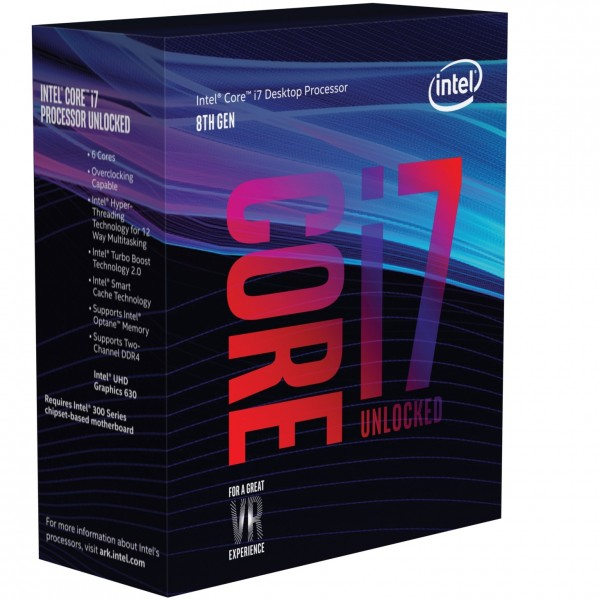 Intel S1151 CORE i7 8700K BOX 6x3,7 95W WOF