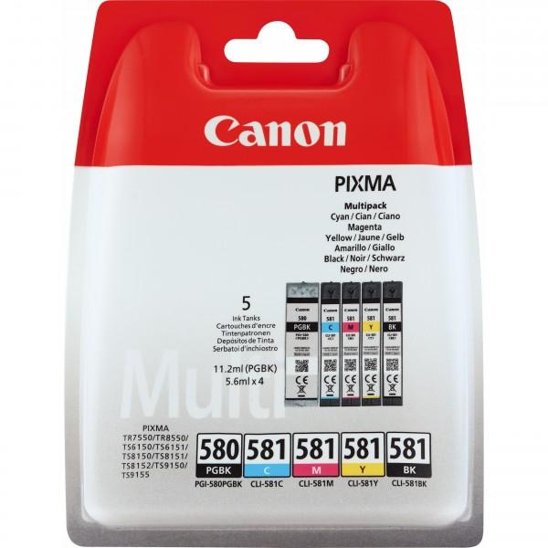 Canon PGI-580/CLI-581 2x Schwarz 1x Cyan 1x Magenta 1x Gelb (5er Pack)