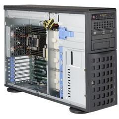 """Barebone Server 4 U/Tower Dual 3647; 8 Hot-swap 3.5""""; 1280W Redundant Platinum; SuperServer 7049P-TR"""