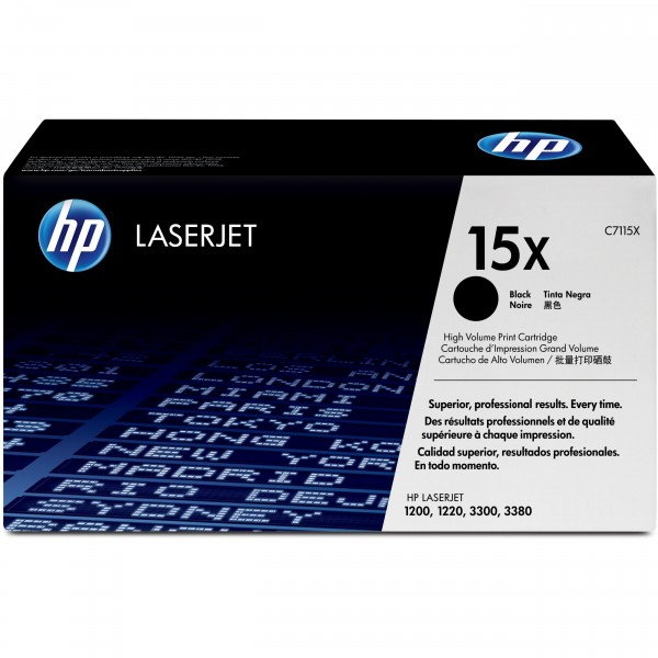 HP # 15X C7115X black Hohe Kapazität