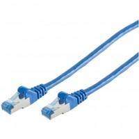 Patchkabel CAT6a RJ45 S/FTP 0,5m blue PIMF, Halogenfrei (LSZH), GHMT Zertifiziert, poly | Innovation