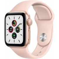 Apple Watch SE GPS, 40mm Gold Aluminium Case with Pink Sand Sport Band - Regular *NEW*