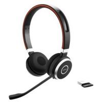 Jabra Evolve 65 MS Stereo Binaural Kopfband black Headset