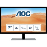 "80cm/31,5"" (2560x1440) AOC Value-line Q3279VWFD8 Wide Quad HD VGA HDMI DP IPS FreeSync 75Hz Black"
