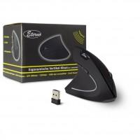 Inter-Tech AC KM-206L Maus Vertikal, ergonomisch für Linkshänder, 6 Tasten, Wireless