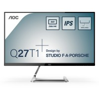 "68,6cm/27"" (2560x1440) AOC Style-line Q27T1 Quad HD 2xHDMI DP IPS 5 ms Silver"