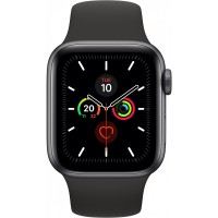 Apple Watch Series 5 GPS + Cellular, 40mm Space Grey Aluminium Case with Black Sport Band - S/M & M/