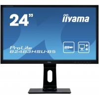 "61cm/24"" (1920x1080) Iiyama ProLite B2483HSU-B5 Full HD 16:9 HDMI VGA DP USB HUB Pivot Höhenverstell"