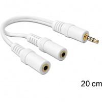 Audio Klinke 3,5mm 4Pol. > 2x Klink 3,5mm Micro + Headset CTIA (ST - BU) Delock