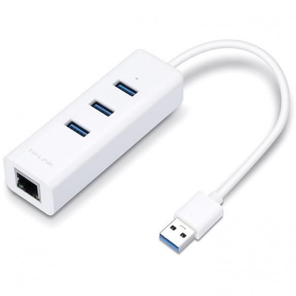 TP-LINK UE330 USB 3.0 > Gigabit LAN - Netzwerkadapter + USB Hub
