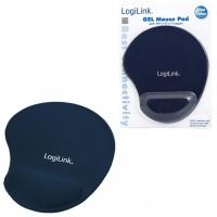 Mauspad Logilink mit Silikon Handauflage blue