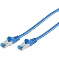 Patchkabel CAT6a RJ45 S/FTP 0,25m blue