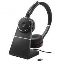 Jabra Evolve 75 UC Stereo Binaural Kopfband black - red Headset