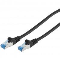Patchkabel CAT6a RJ45 S/FTP 1,0m black PIMF, Halogenfrei (LSZH), GHMT Zertifiziert, poly | Innovatio