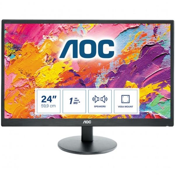 "59,9cm/23,6"" (1920x1080) AOC E2470SWH Full HD VGA 2xHDMI Schwarz"