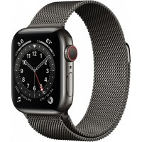 Apple Watch Series 6 GPS + Cellular, 40mm Graphite Stainless Steel Case with Graphite Milanese Loop *NEW*