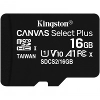 MicroSDHC 16GB Kingston Canvas Select Plus C10 UHS-I 100MB/s inkl. Adapter