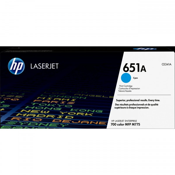 HP 651A - Cyan - CE341AC Contract